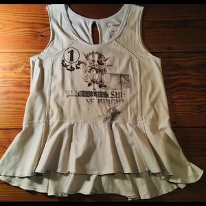 We the Free (Free People) Peplum Boho Tunic Tank